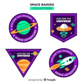 Space-Abzeichen-Sammlung
