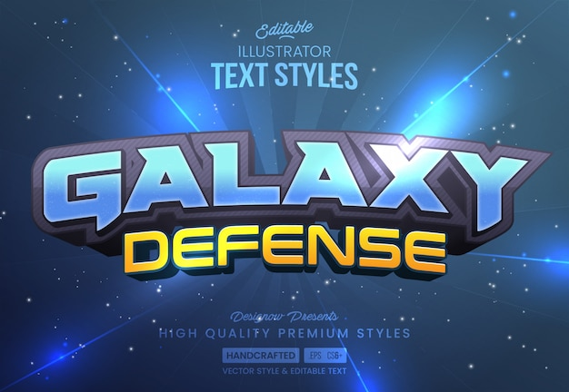 Space galaxy text style