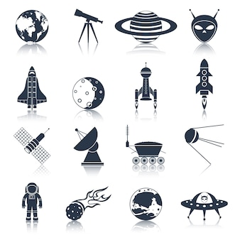 Space icons sammlung