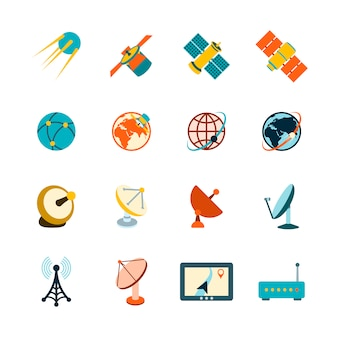 Space icons sammlung Kostenlosen Vektoren
