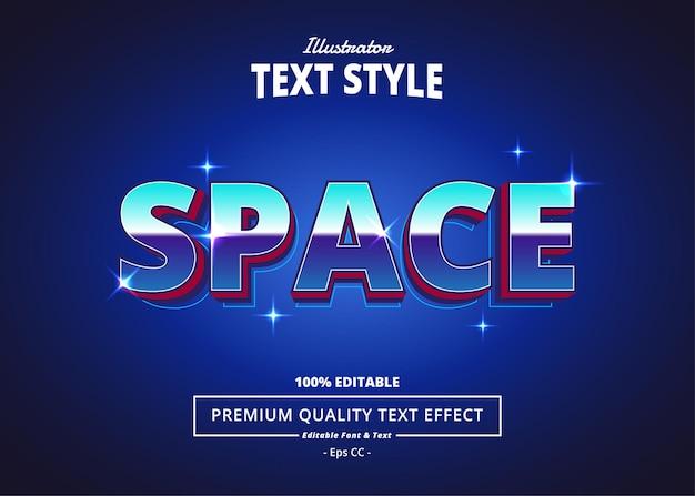 Space illustrator-texteffekt
