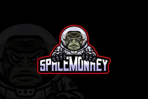Space monkey - esport logo vorlage