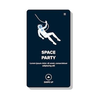 Space party theme musik- und tanzveranstaltung
