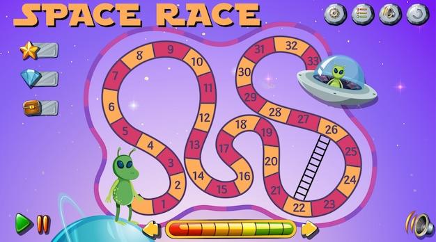 Space race brettspiel