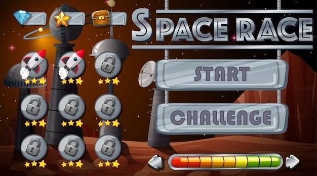 Space race game hintergrund