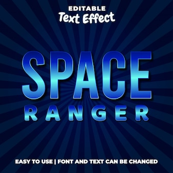 Space ranger-spieletitel bearbeitbarer texteffektstil