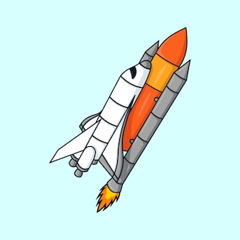 Space-shuttle-cartoon-illustrationsvektor