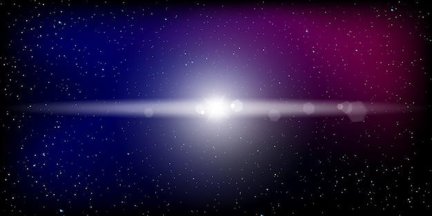 Space stars hintergrund. vektor-illustration des nachthimmels.