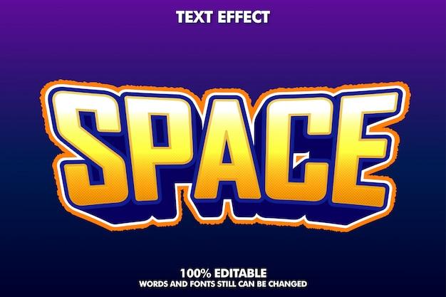 Space-text-effekt, moderner schrifteffekt