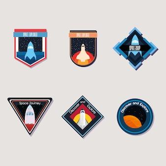 Space und universum patches design