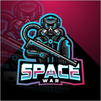 Space war esport maskottchen-logo