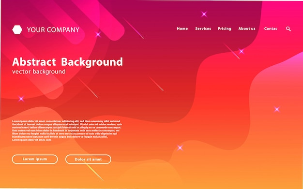 Space website landing page hintergrund