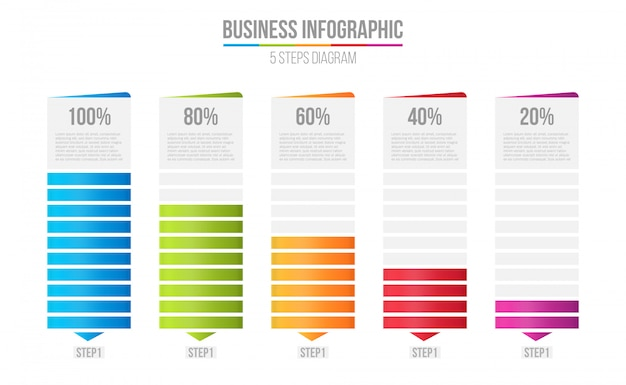 Spaltenbalkendiagramm, vergleichstabelle infographic.
