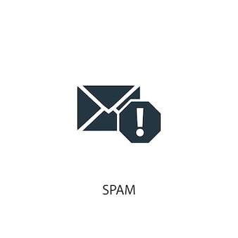 Spam-symbol. einfache elementabbildung. spam-konzept-symbol-design. kann für web und mobile verwendet werden.