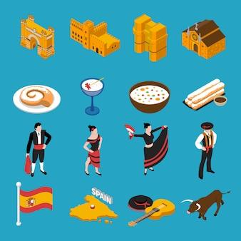 Spanien icons set