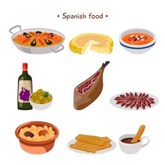Spanische essensammlung
