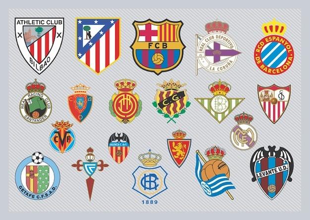 Spanische fußball-team-logos
