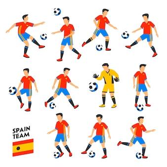 Spanische fußballmannschaft