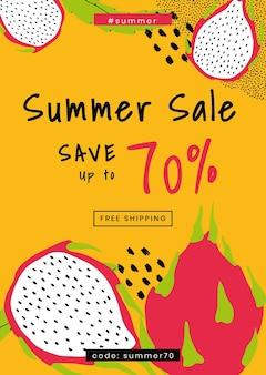 Sparen sie bis zu 70% sommer-sale-vorlage