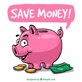 Sparen sie geld illustration