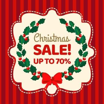 Sparen sie weihnachtsverkauf im flachen design