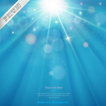 Sparkle blauem hintergrund