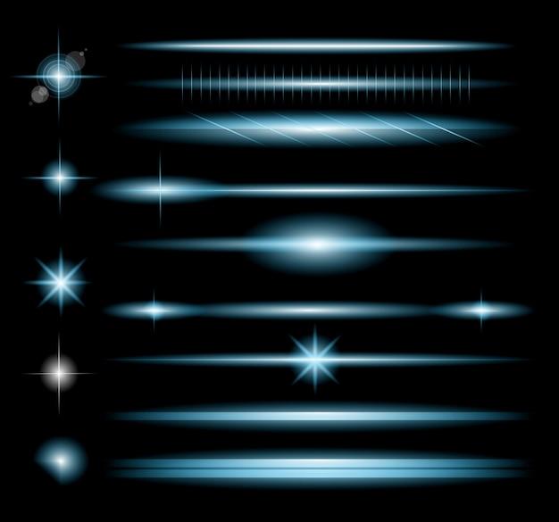 Sparkle collection mit vielen verschiedenen formen