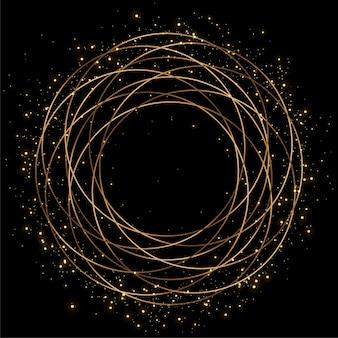 Sparkles rahmen mit goldenen linien hintergrund
