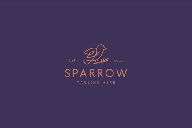 Sparrow bird nature life illustration logo