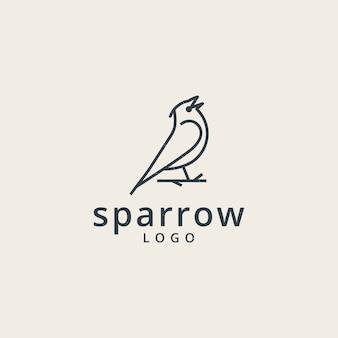 Sparrows-logo mit einem einfachen linienstil