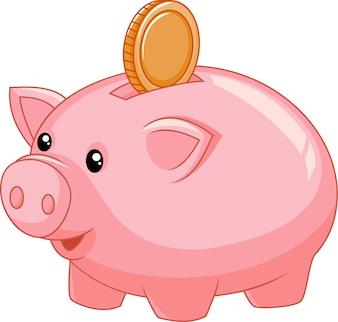 Sparschwein mit Münze
