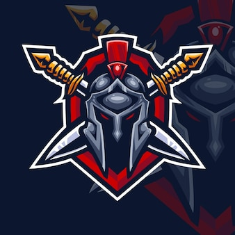 Sparta knight esport gaming logo