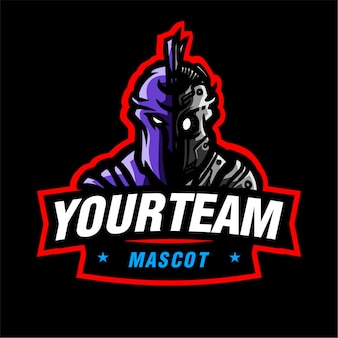 Sparta roboter maskottchen gaming-logo