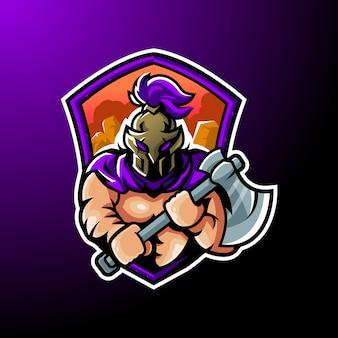 Spartan guardian maskottchen-logo
