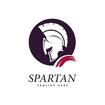 Spartan logo vektor spartan helm logo