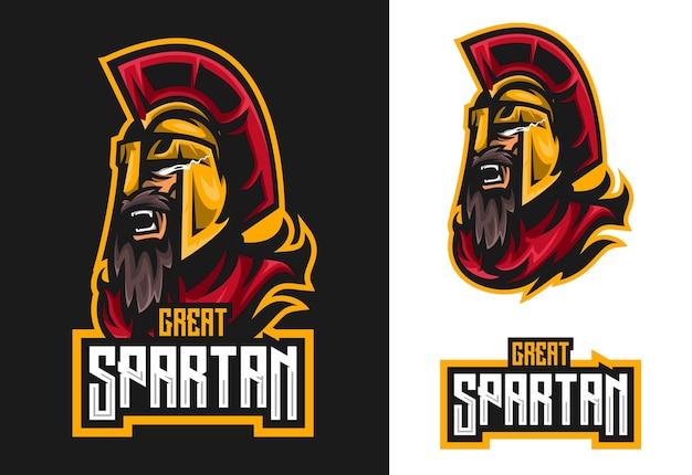 Spartan maskottchen esport logo design