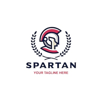 Spartan side face crest-logo