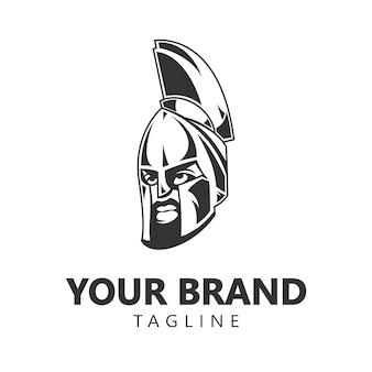 Spartan warrior logo für ihre marke