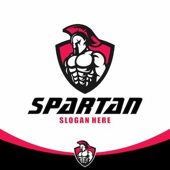 Spartanische logo-vorlage
