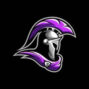 Spartanische maskottchen-illustration