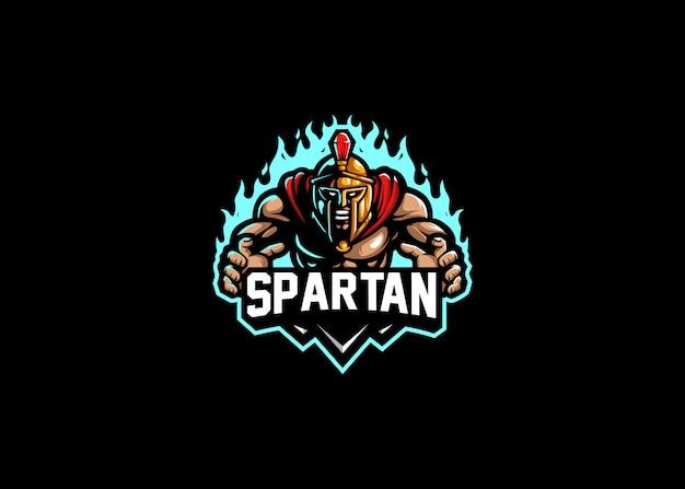 Spartanische stärke beim spielen mit dem esport-logo