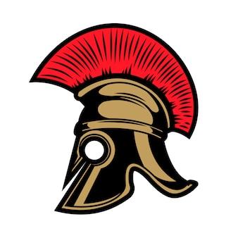 Spartanischer helm. elemente für emblem, zeichen, abzeichen. illustration