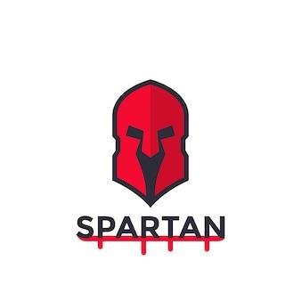 Spartanischer helm, vektorlogokonzept