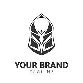 Spartanischer krieger logo