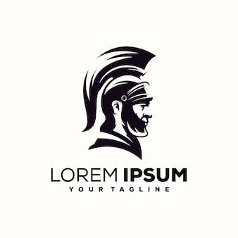 Spartanischer logo-design-vektor