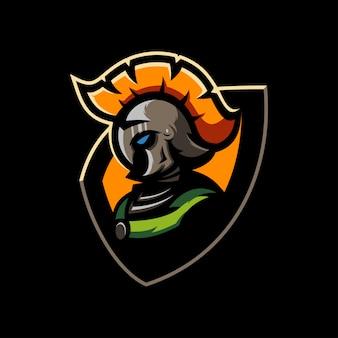 Spartanischer logo-vektor