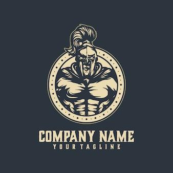 Spartanischer logoschablonenvektor