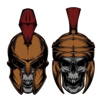 Spartanischer schädel