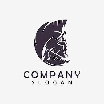 Spartanisches abstraktes logo