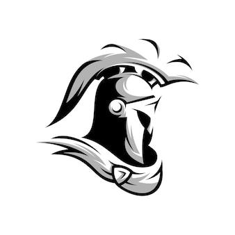 Spartanisches design schwarz und weiß